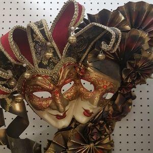 3 Double Mardi  Gras Masks